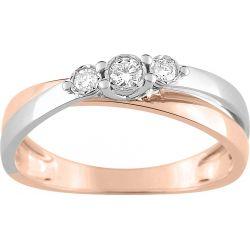 Bague Or Rose 3 diamants