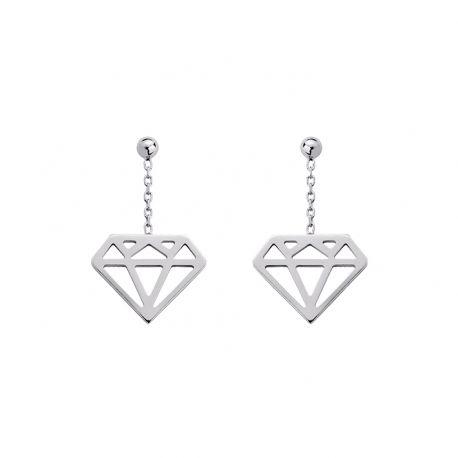 """Boucles D'oreilles""""Diamant"""""""