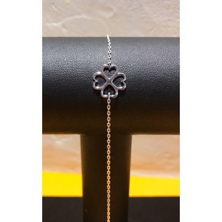 Bracelet trèfle Argent à 4 feuilles FD Prestige