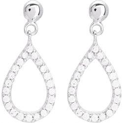 Boucles D'oreilles Or Blanc 18 carats FD Prestige