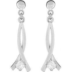 Boucles d'oreilles Or gris 18 carats FD Prestige