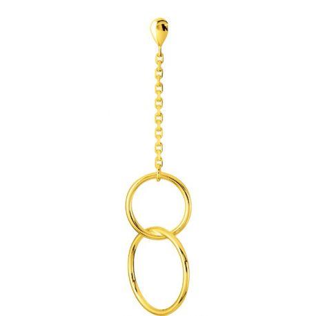 boucle d'oreille pendante anneau