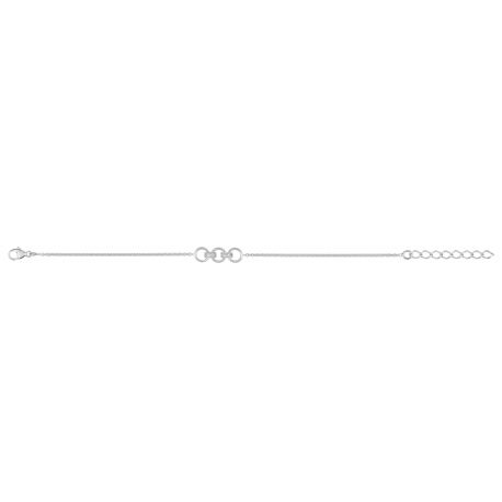 Bracelet Argent 3 anneaux de l'Amour, FD Prestige