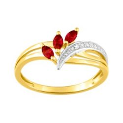 """Finesse"" Bague Rubis synt. FD Prestige"