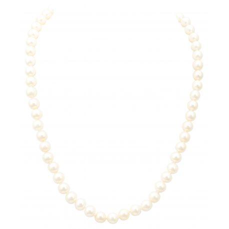 Collier perles blanches d'eau douce FD Prestige