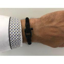 Bracelet marin homme cordon noir