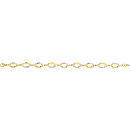 Bracelet chic femme plaqué or