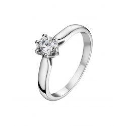 Alliance diamant, solitaire or gris