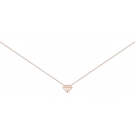 """""""Diamant"""" Collier plaque or rose FD prestige"""