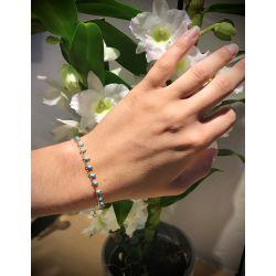 """""""Le Charli'ze """" bracelet fin à perle plaqué or"""