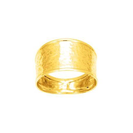 Bague large plaqué or