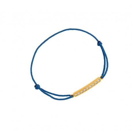 Bracelet cordon bleu et son médaillon