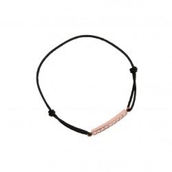 Bracelet cordon noir et son médaillon