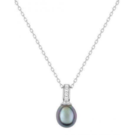 Collier argent perle d'eau douce