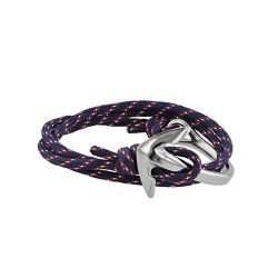 Bracelet bleu ancre marine